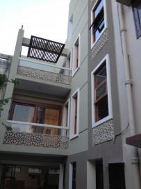Corner at entry