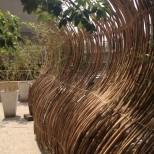 Bamboo screen on terrace